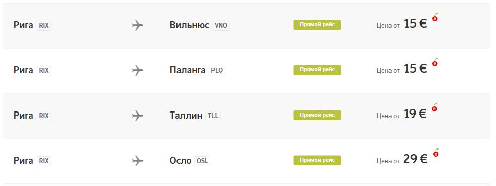 Большая распродажа AirBaltic от 15 евро в одну сторону!