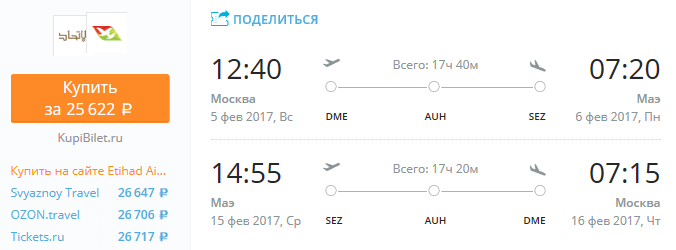 Москва - Сейшелы