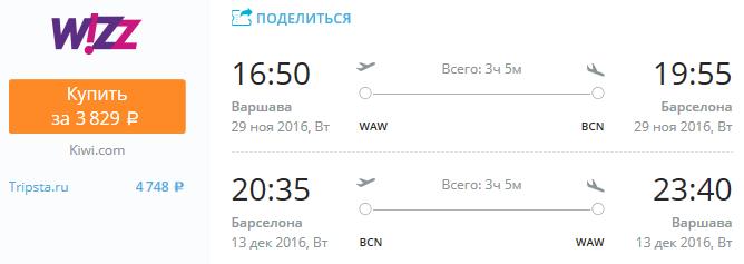 Варшава - Барселона