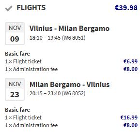 Вильнюс - Милан