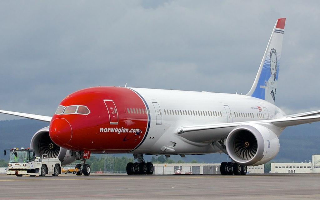 самолет boeing лоукостера Norwegian Air
