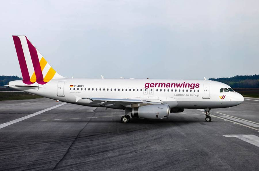 самолет Airbus лоукостера Germanwings